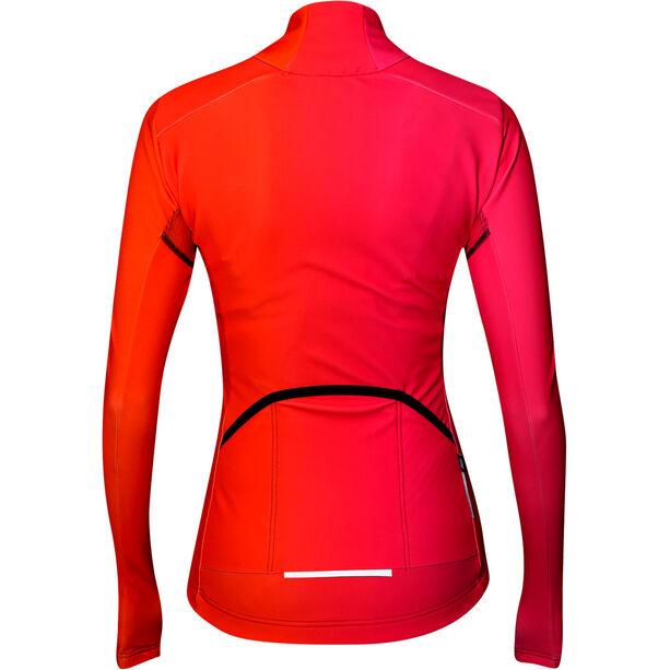 Biehler Thermal Rain Langarm Radtrikot Damen farbwechsel pink
