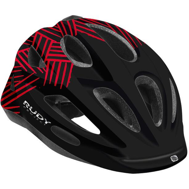 Rudy Project Rocky Helmet Kinder black-red shiny