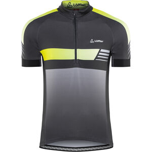 Löffler Hotbond Reflective Bike Jersey Half-Zip Herren schwarz/zitrone schwarz/zitrone