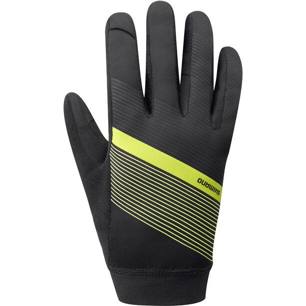 Shimano Wind Control Gloves Herren neon yellow
