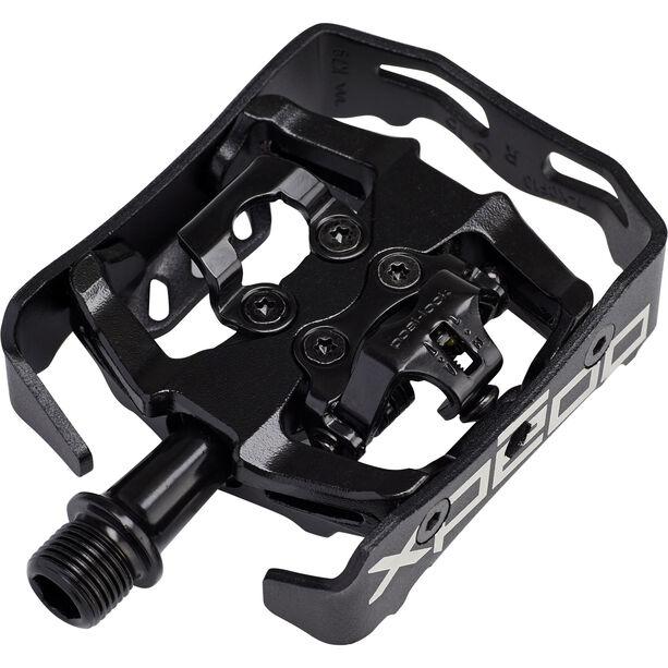 Xpedo Clipless Milo Pedals schwarz/schwarz