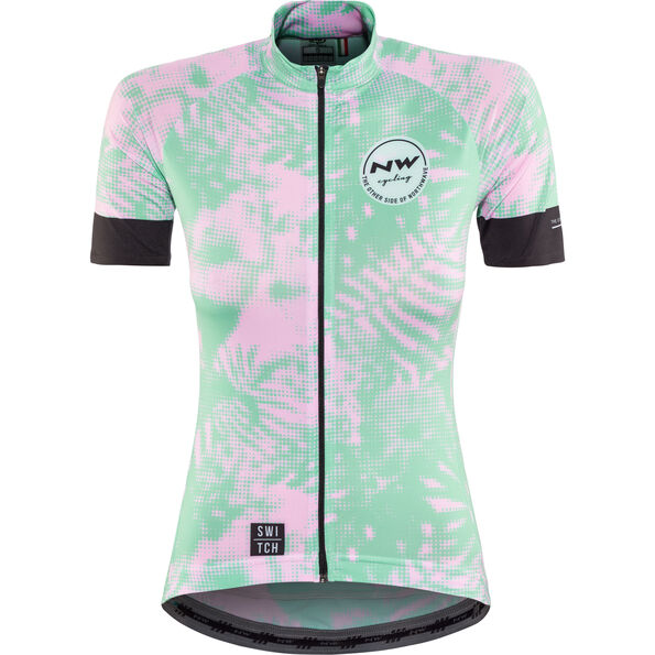 Northwave Leaves SS Jersey Switch Line Damen green forest/pink