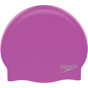 speedo Plain Moulded Silicone Cap purple/chrome purple/chrome