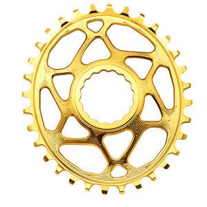 absoluteBLACK Ovales Kettenblatt Spiderless Boost148 für Race Face Cinch golden golden