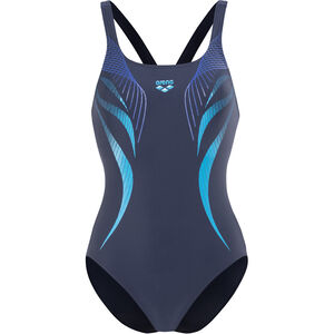 arena Flow V Back LB One Piece Swimsuit Damen navy-turquoise navy-turquoise