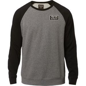 Fox Resin Crew Neck Fleece Pullover Herren heather graphite heather graphite
