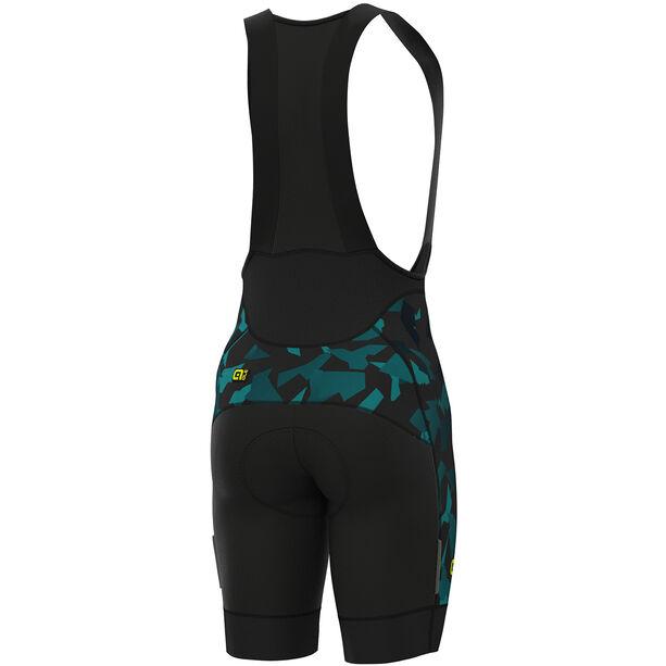 Alé Cycling Graphics PRR Glass Bib Shorts Herren black petr-turquise