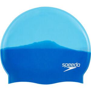 speedo Multi Colour Silicone Cap neon blue/japan blue neon blue/japan blue
