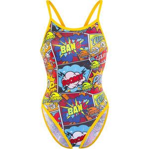 Turbo Comic Boom Revolution Thin Strap Swimsuit Women Red