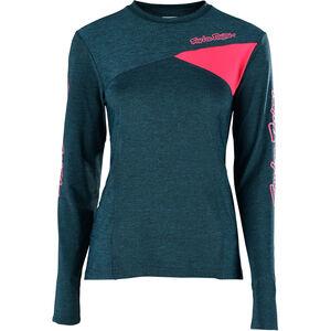 Troy Lee Designs Skyline LS Jersey Damen heather corsair/coral heather corsair/coral