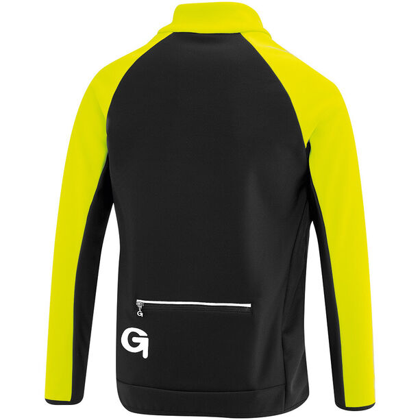 Gonso Moritz Softshell Jacke Kinder safety yellow/black