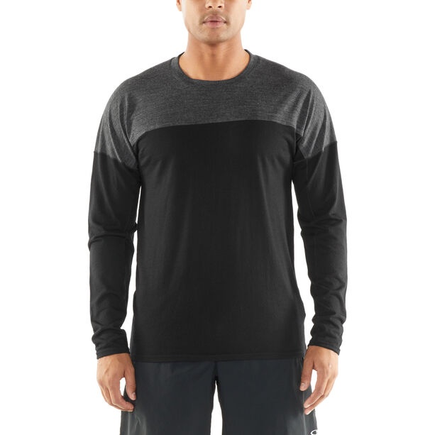 Icebreaker Kinetica LS Crewe Shirt Herren black/black heather