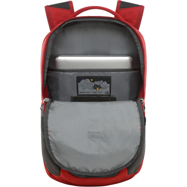 The North Face Vault Backpack tnf dark grey heather/cardinal red