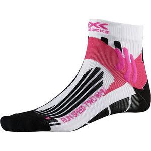 X-Socks Run Speed Two Socks Damen arctic white/opal black arctic white/opal black