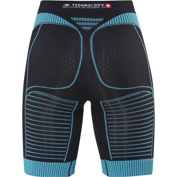 X-Bionic Effektor Running Power Pants short Damen black/turquoise
