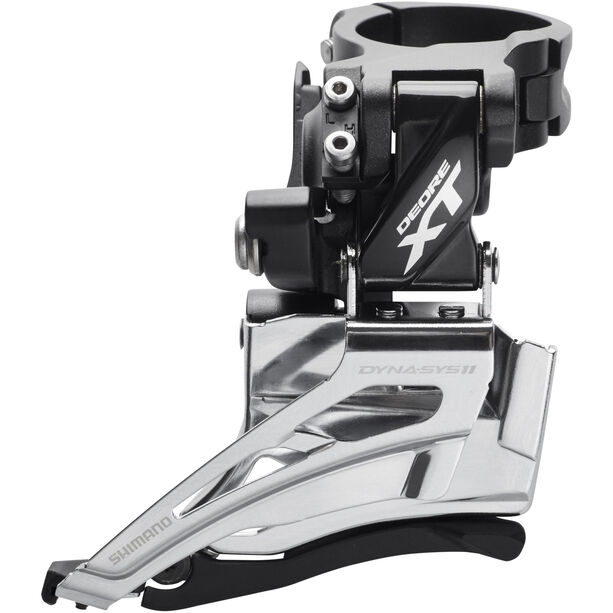 Shimano Deore XT FD-M8025 Umwerfer 2x11-fach Schelle Dual Pull schwarz/silber