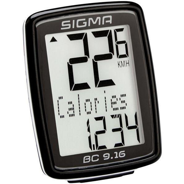 SIGMA SPORT BC 9.16 Fahrradcomputer kabelgebunden schwarz