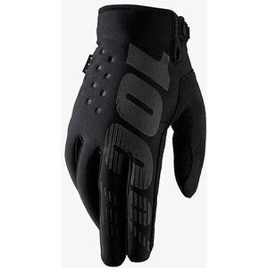 100% Brisker Gloves black black