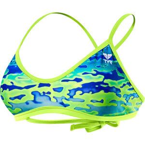 TYR Serenity Crosscut Tieback Bikini Top Women Blue/Green