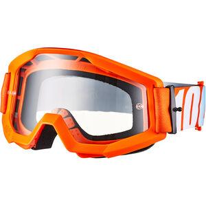 100% Strata Anti Fog Clear Goggles Jugend orange orange