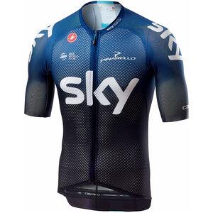 Castelli Team Sky Climbers 3.0 FZ Jersey Men black/dark ocean bei fahrrad.de Online