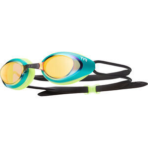 TYR Black Hawk Racing Mirrored Goggles Herren gold/green gold/green