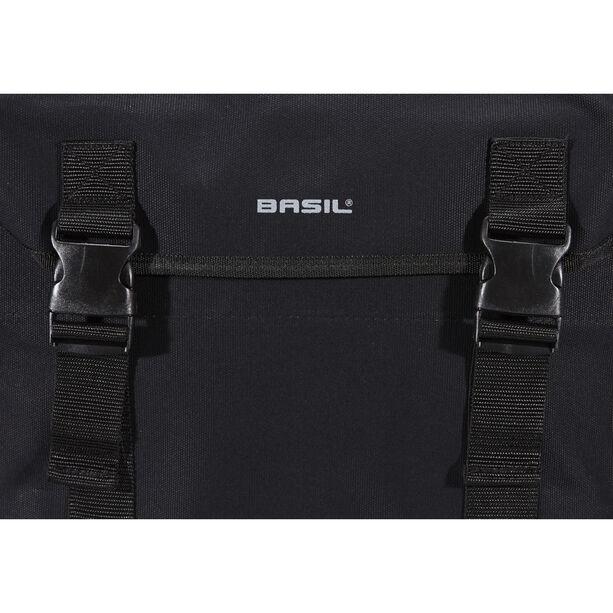 Basil Kavan Doppel-Gepäckträgertasche schwarz