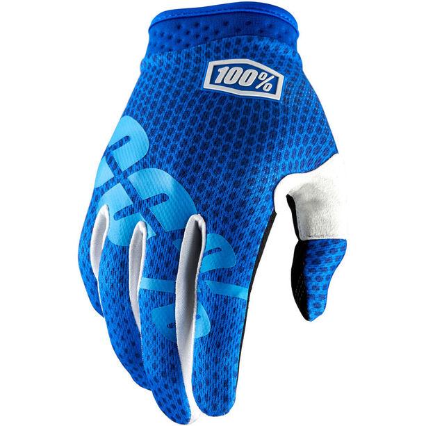 100% iTrack Gloves Kinder blue blue