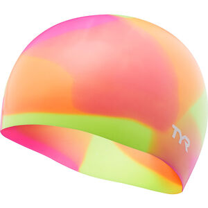 TYR Tie Dye Silicone Swim Cap Kinder yellow/pink/orange yellow/pink/orange