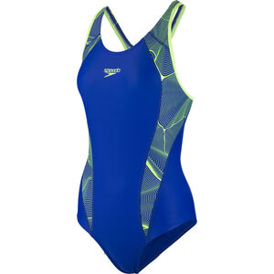 speedo Fit Laneback Swimsuit Damen blue/green blue/green