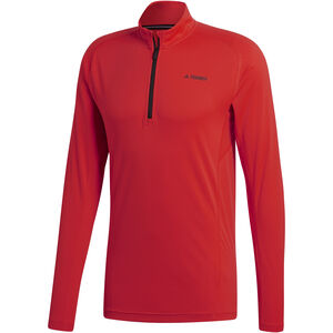 adidas TERREX TraceRocker Tee LS 1/2 Zip Herren hi-res red hi-res red
