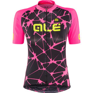 Alé Cycling Solid Cracle Shortsleeve Jersey Damen black-fluo pink black-fluo pink
