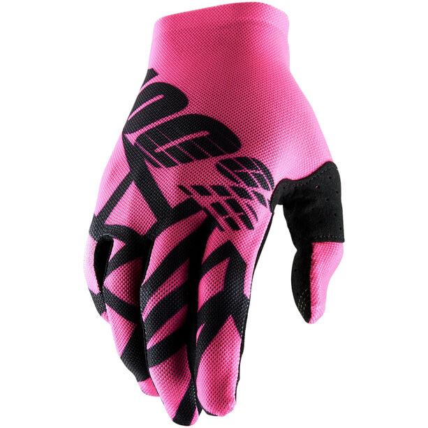 100% Celium 2 Gloves neon pink/black