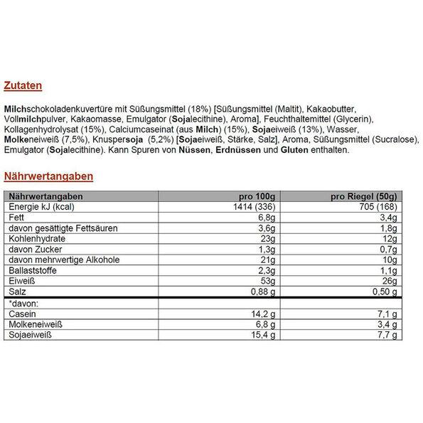 PowerBar ProteinPlus 52% Bar Box 20x50g Chocolate Nuts