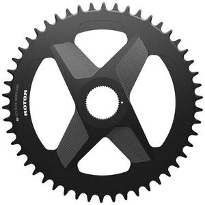 Rotor Round Ring Kettenblatt 1x DM Alu schwarz schwarz
