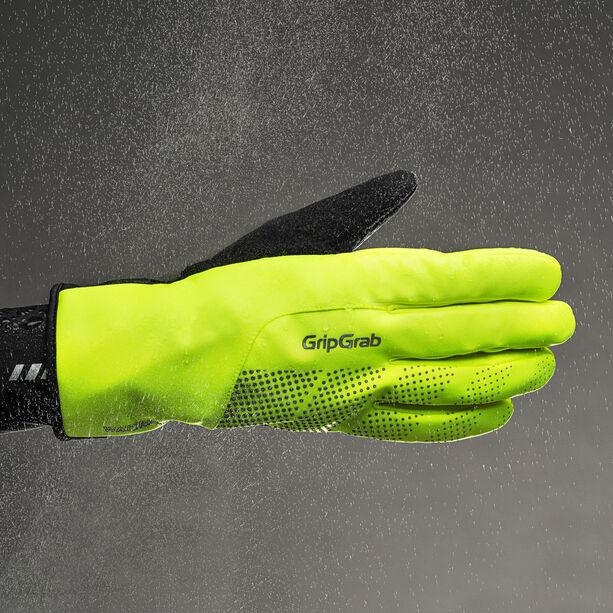 GripGrab Ride Hi-Vis Waterproof Winter Gloves fluo yellow