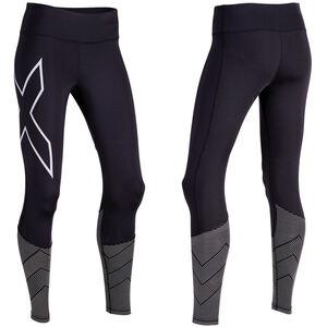 2XU Reflect Compression Tights Women Mid-Rise Black/Silver Reflective bei fahrrad.de Online