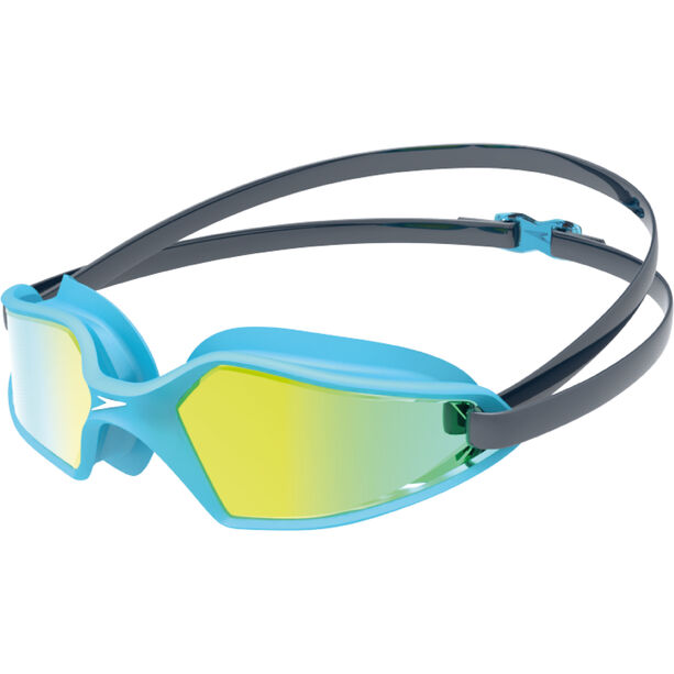 speedo Hydropulse Mirror Brille Kinder navy/blue bay/gold yellow