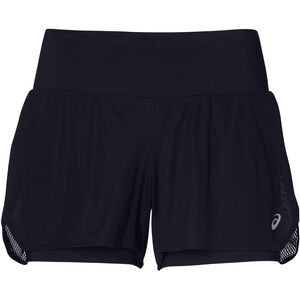 asics Cool 2-in-1 Shorts Damen performance black/mid grey performance black/mid grey