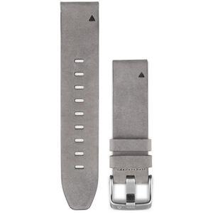 Garmin fenix 5S Velourslederarmband QuickFit 20mm grey