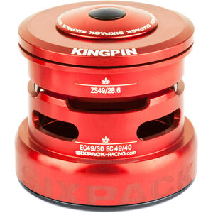 Sixpack Kingpin 2In1 Steuersatz ZS49/28.6 I EC49/30 and ZS49/28.6 I EC49/40 red red