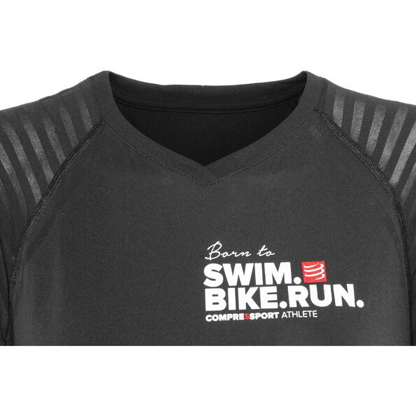 Compressport SwimBikeRun Training T-Shirt Damen black