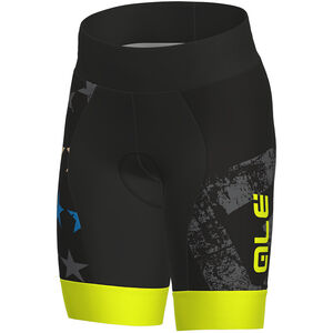 Alé Cycling Stelle Shorts Kids black flou yellow