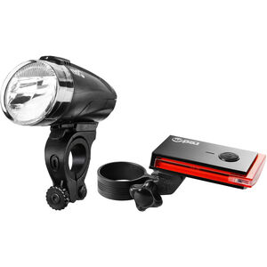 Red Cycling Products Bike Eye LED Beleuchtungs Set schwarz schwarz