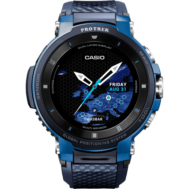 CASIO PRO TREK SMART WSD-F30-BUCAE Smartwatch Herren blue/blue/grey