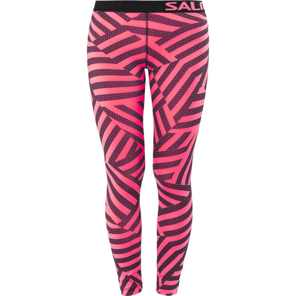 Salming Flow Tights Damen coral/all over print