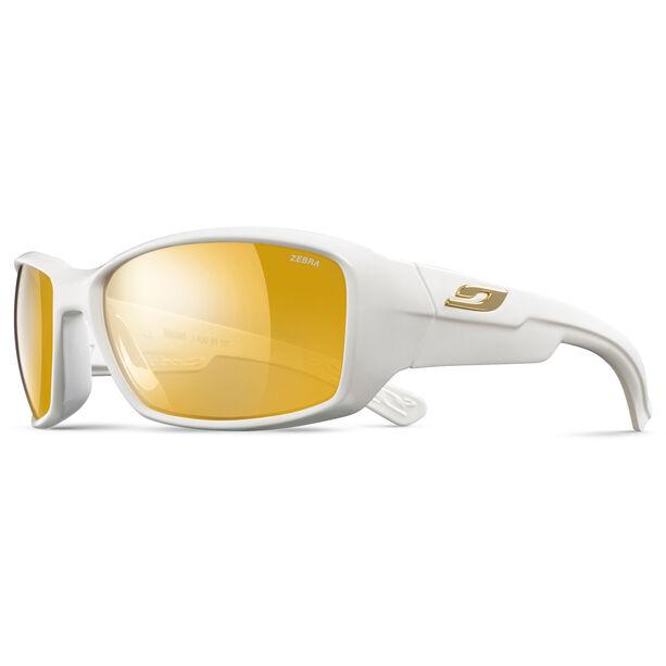Julbo Whoops Zebra Sonnenbrille shiny white-yellow/brown