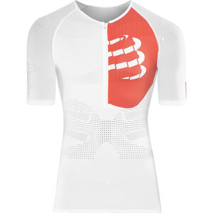 Compressport Triathlon Postural Aero Short Sleeve Top Men White