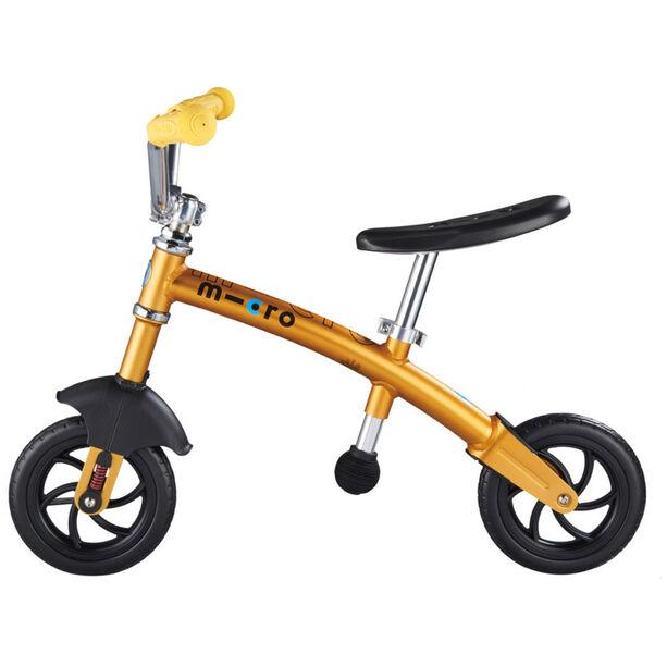 Micro G-Bike Chopper Deluxe Laufrad Kinder gelb