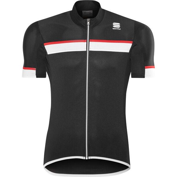 Sportful Pista SS Jersey Herren black/white-red